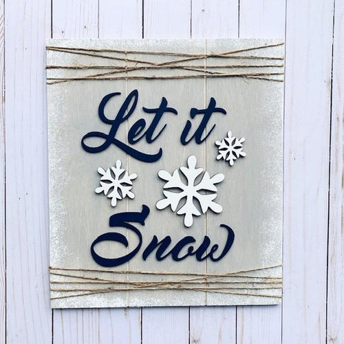 LET IT SNOW diy sign kit