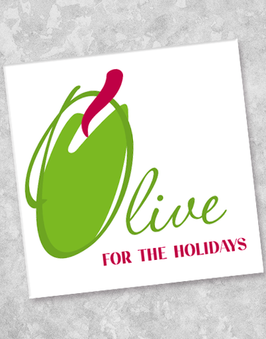 Olive For The Holidays Beverage Napkins (20 Count)