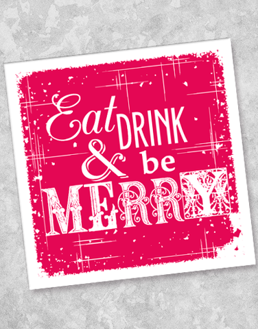 Be Merry Beverage Napkins (20 Count)
