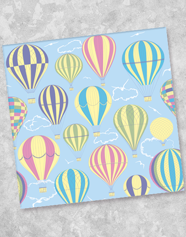 Hot Air Balloons Beverage Napkins (40 Count)