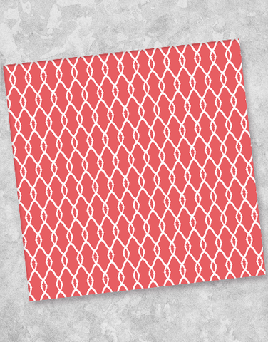 Simple Links Coral Beverage Napkins (40 Count)
