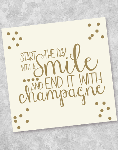 End With Champagne Beverage Napkins (40 Count)