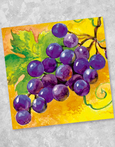 Painted Grapes Beverage Napkins (40 Count)