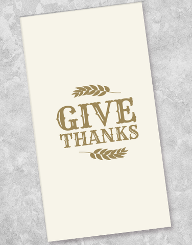 Give Thanks Guest Towel Napkins (40 Count)