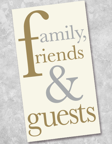 Family Friends & Guests Guest Towel Napkins (40 Count)