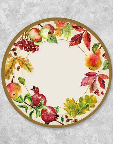 Autumn Fruit Dessert Plates (18 Count)