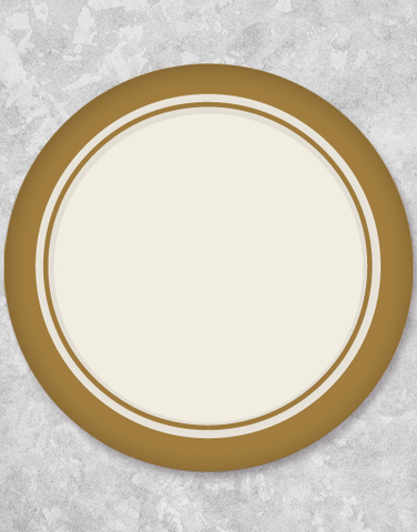 Gold Trim Elegance Cream Dessert Plates (18 Count)