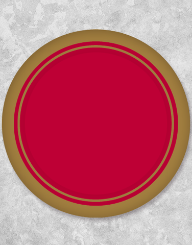 Gold Trim Elegance Red Dessert Plates (18 Count)