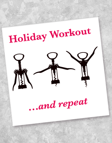Holiday Workout Beverage Napkins (40 Count)