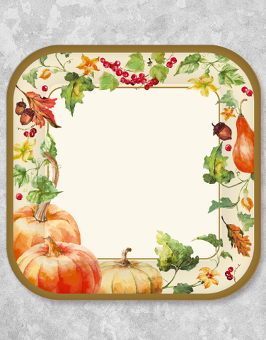 Autumn Harvest Dessert Plates (18 Count)
