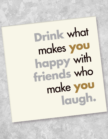 Drink With Friends Beverage Napkins (36 Count)