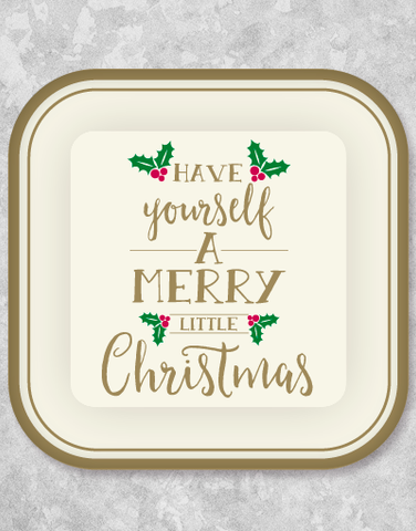 Another Merry Little Christmas Dinner Plates (18 Count)