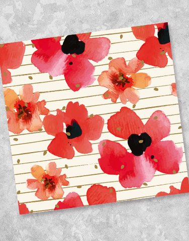 Playful Poppies Beverage Napkins (40 Count)