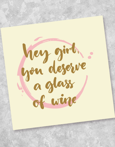 You Deserve A Glass Beverage Napkins (40 Count)