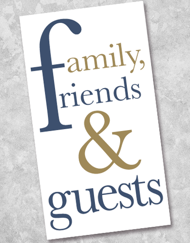 Family Friends & Guests Navy Guest Towel Napkins (40 Count)