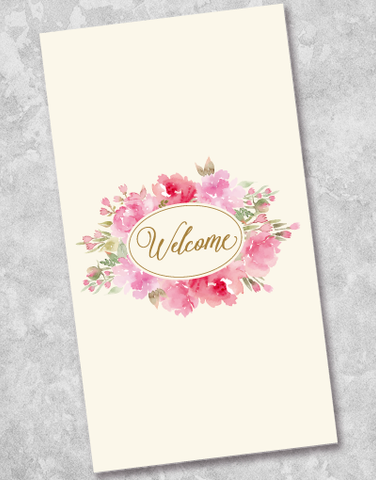 Welcome Bouquet Guest Towel Napkins (36 Count)