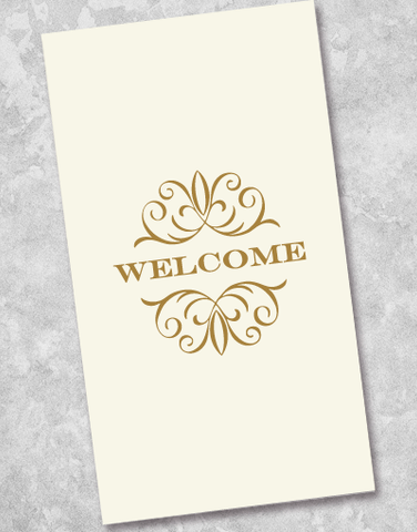 Gilded Welcome Guest Towel Napkins (40 Count)