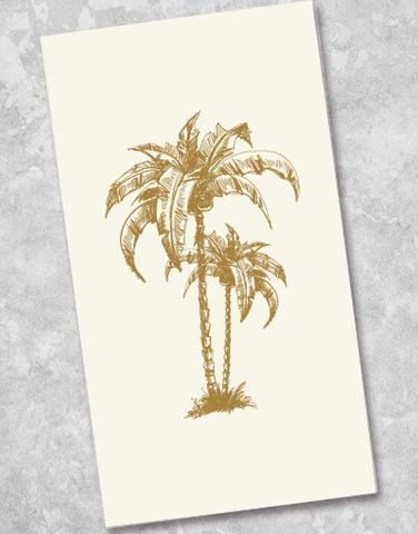 Golden Palm Tree Guest Towel Napkins (40 Count)