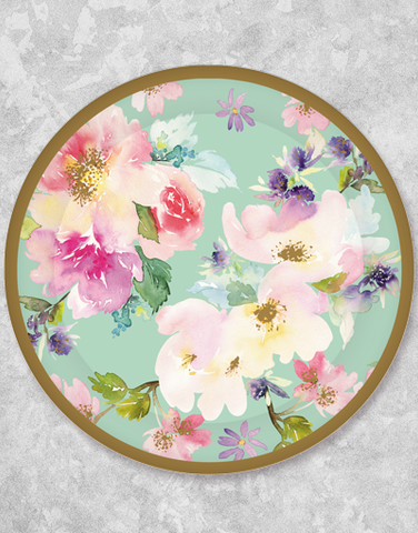 Blossom Whispers Dinner Plates (18 Count) & Blueink Studios \u2014 All Paper Plates