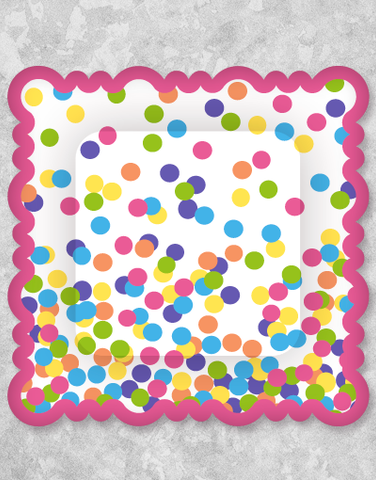 Hooray Dots Dessert Plates (8 Count)