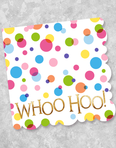 Whoo Hoo Dots Beverage Napkins (20 Count)