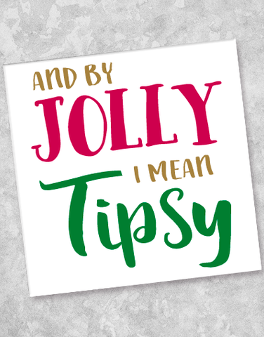 By Jolly Beverage Napkins (40 Count)