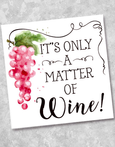Matter of Wine Beverage Napkins (40 Count)