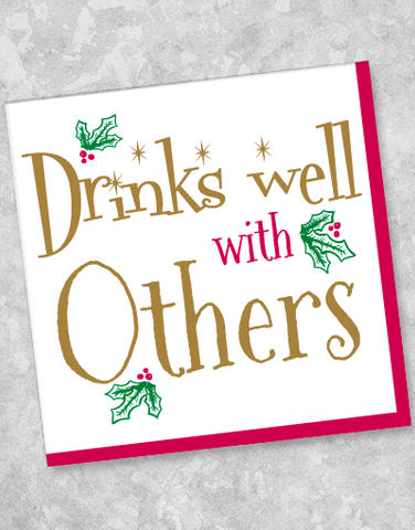 Drinks Well With Others Beverage Napkins (40 Count)