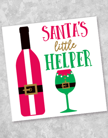 Santa's Little Helper Beverage Napkins (40 Count)
