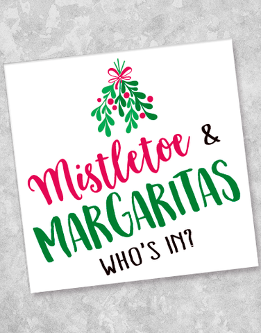 Mistletoe & Margaritas Beverage Napkins (40 Count)