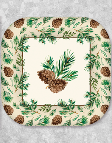 Peaceful Pines Dessert Plates (18 Count)