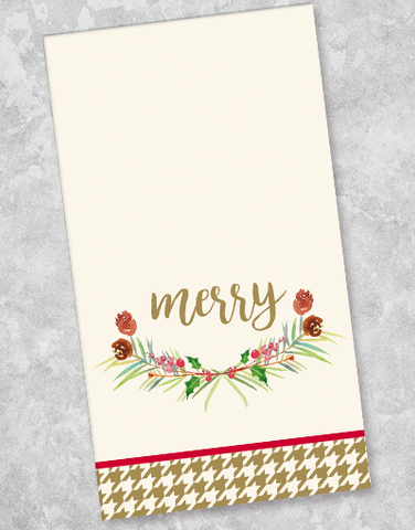 Simple Holiday Wishes Guest Towel Napkins (40 Count)