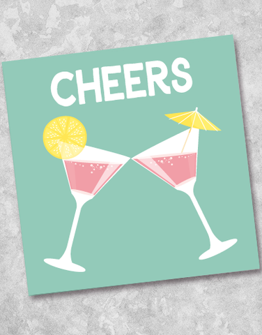 Cocktail Cheers Beverage Napkins (40 Count)