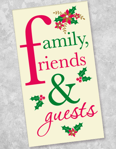 Holiday Family & Friends Guest Towel Napkins (40 Count)