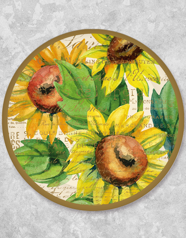 Sunflower Watercolor Dinner Plates (18 Count)