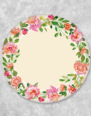 Bohemian Blossoms Dinner Plates (18 Count)