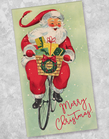 Biking Santa Guest Towel Napkins (40 Count)