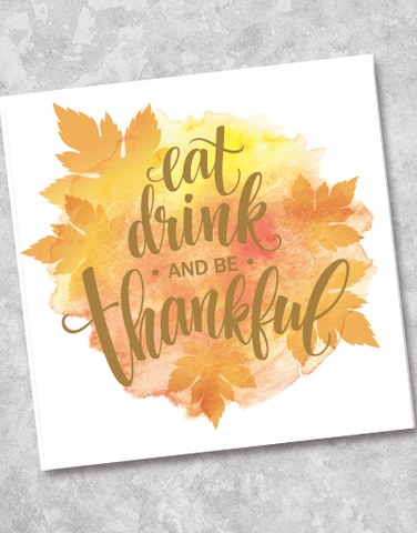 Eat Drink Thankfulness Beverage Napkins (40 Count)