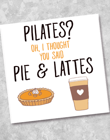 Pie & Lattes Beverage Napkins (40 Count)