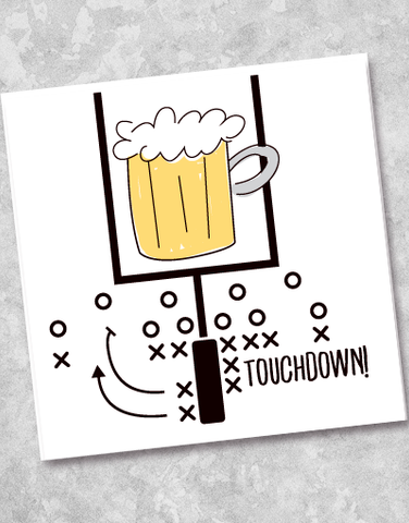 Touchdown Play Beverage Napkins (40 Count)
