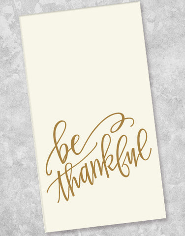 Be Thankful Guest Towel Napkins (40 Count)