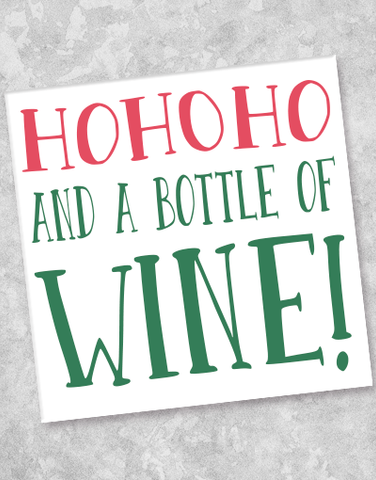 Ho Ho Ho Wine Beverage Napkins (40 Count)