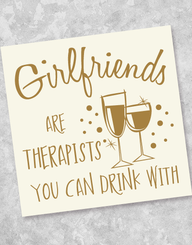 Girlfriends Are Therapists Beverage Napkins (40 Count)