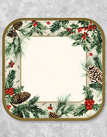 Winter Pine Dinner Plates (18 Count)