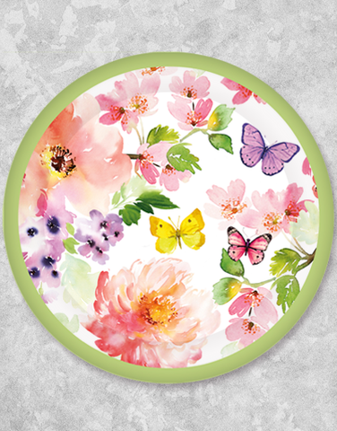 Butterflies & Blossoms Dinner Plates (18 Count)