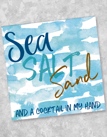 Sea Salt Sand Beverage Napkins (40 Count)