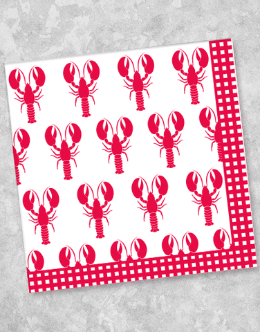 Lobster Party Beverage Napkins (40 Count)