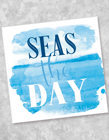 Seas The Day Beverage Napkins (40 Count)