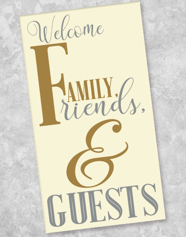 Welcome Guests Guest Towel Napkins (40 Count)