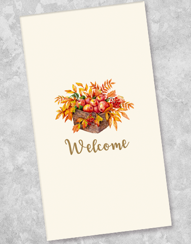 Autumn Welcome Guest Towel Napkins (40 Count)
